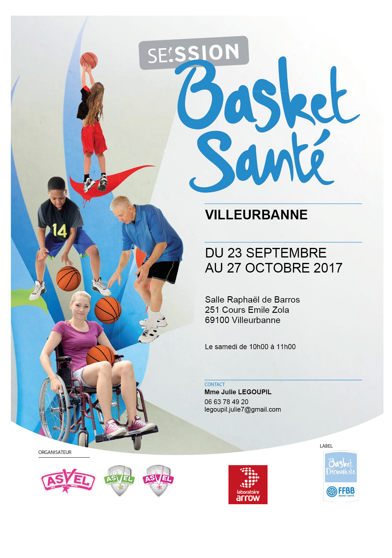 Affiche BS ASVEL Basket VFIN